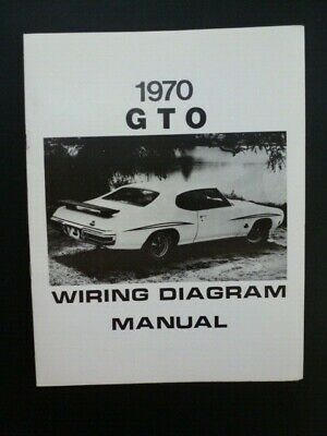 1970 pontiac tempest lemans gto wiring diagram manual - used