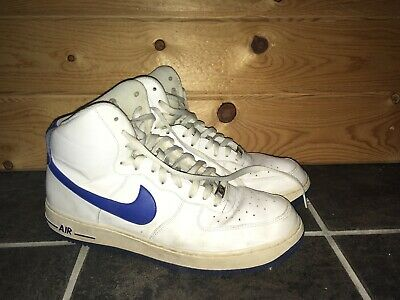 5401481583f0b NIKE AIR FORCE 1 High White Royal Blue Rare Vintage Size 12 2001 ...