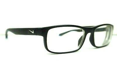 8d87f1b683fc NIKE 7090 Matte Black Crystal Photo Blue 018 Eyeglasses Prescription -5.00