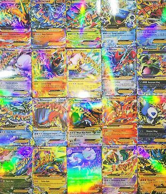 20 Pcs/Lot Pokemon EX Card All MEGA Holo Flash Trading Cards Charizard