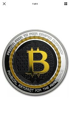 5 oz Silver Colorized Proof Round Bitcoin Value Conversion Anonymous Mint Crypto