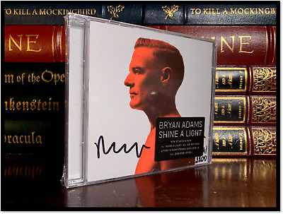 Shine A Light ✎SIGNED♫ by BRYAN ADAMS Brand New CD w/ Autographed Cover