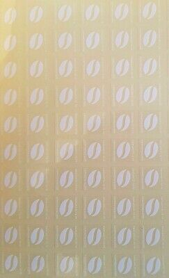 60X McDonalds Coffee Bean Loyalty Stickers McCafe 31/12/19 expiry date