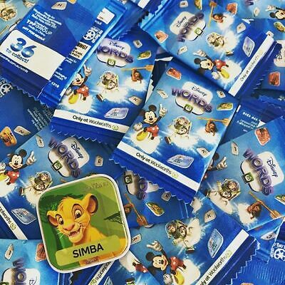 24 x Woolworths Disney Words Tiles .. ALL NEW .. SEALED .. UNOPENED .. 24 Packs