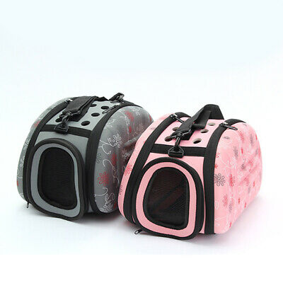 Folding Pet Carrier Cat/Dog/Puppy Comfort Shoulder Bag Travel Backpack Tote Pack