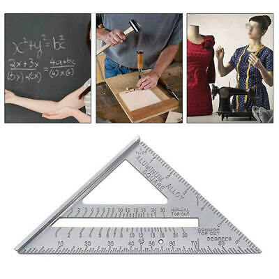 """7"""" Aluminum Alloy Triangle Angle Protractor Speed Square Rafter Ruler Mete"""