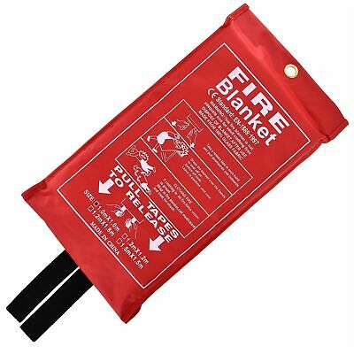 Home Safety Fire Blanket Large 1m x 1m In Pack Kitchen Quick Release Protection