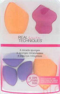 Real Techniques 6 Miracle Sponges Women Gift Set