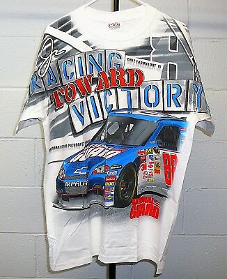 a3d1e57e9 CHASE NASCAR Mens L White T-Shirt Dale Earnhardt Jr National Guard Racing  EUC
