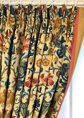 "Zoffany POMPADOUR Blackout Curtains HUGE 135""w 94""d Linen Union 2 pairs avail."