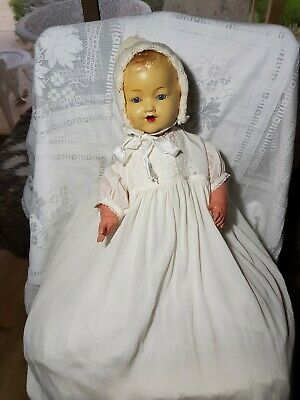 Vintage Australian Laurie Cohen Hush a Bye doll 1940s Composition Soft Body Doll