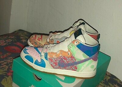 super popular 0f7bd 27035 Nike SB Dunk High Premium Thomas Campbell What The Size 8