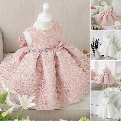Infant Toddler Baby Lace Princess Dress Flower Girls Party Birthday Wedding New