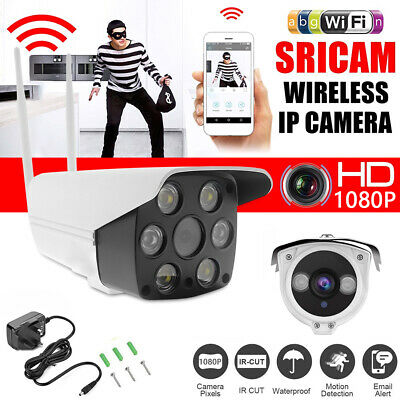 Wireless WIFI IP Camera 1080P HD Network Cam CCTV In/Outdoor Security IR Night