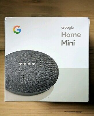 Google Home Mini Smart with Google Assistant - Charcoal (GA00216-AU) Brand New