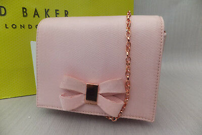 fc65e316ed Ted Baker Genuine Ladies Stacyy Looped Bow Evening Clutch Bag Light Pink  BNWT