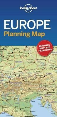 NEW Europe Planning Map By Lonely Planet Folded Sheet Map Free Shipping