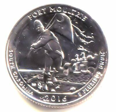 BU 2016 P Fort Sumter Moultrie South Carolina Quarter Coin - Philadelphia Mint