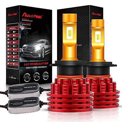 Autofeel H7 LED Headlight Bulbs 8000LM IP68 Super Bright Car Exterior White Lamp