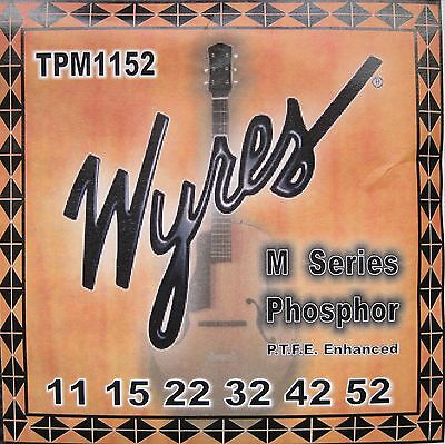 NEW Wyres PTFE Coated TPM1152 Acoustic Strings