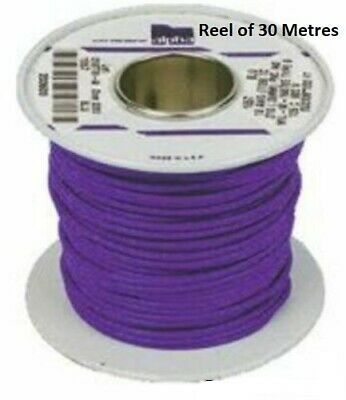 Alpha Wire Purple Hook Up Wire 1.23 mm² CSA  600 V 30m reel- New-1858/19-VI005