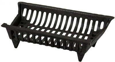 Fireplace Grate 18 in. Cast Iron Black Rustic High Temperature Paint Coated