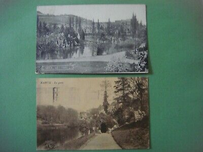 Lot de 2 cartes de NAMUR ( Le Parc )