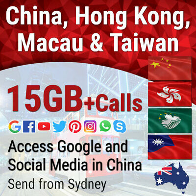China Hong Kong Macau Taiwan Travel Data Sim card 4G-5GB HK 2000 minutes