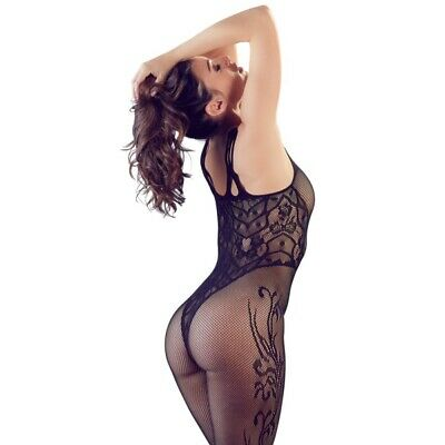 Mandy Mystery catsuit con piede e motivo lingerie sexy chemise catsuit sexyshop