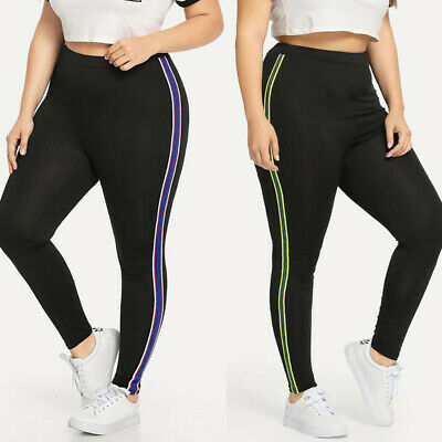 Womens Plus Size Sequined Stylish Sports Leggings Yoga Athletic Pants Tousers