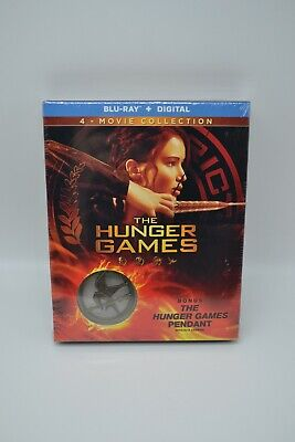 The Hunger Games 4 Movie Collection Blu-Ray Bonus Pendant Still Sealed!