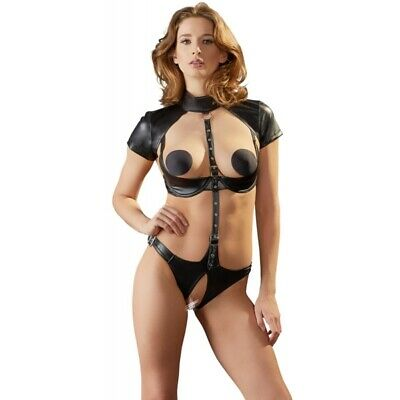 Cottelli Collection Body con aperture Mini abito sexy lingerie body BDSM master