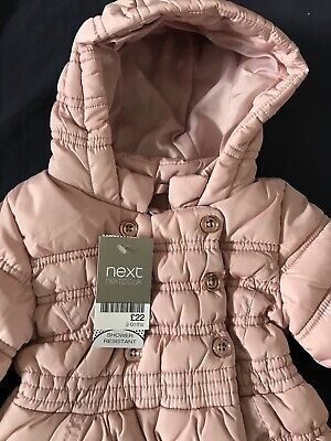 New Baby Girl Coat 3-6 Months From Next In Dusty Pink