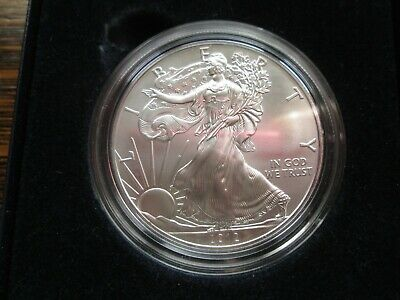 2012 American Silver Eagle Coin 1 Oz BU Silver Coin in Box/Capsule