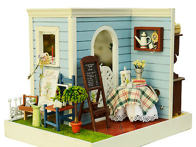 Diy Wooden Dollhouse Mini House For Christmas Gift Au Stock