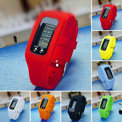 Lcd Pedometer Wrist Watch Bracelet Sport Calorie Step Running Counter Fitness Au