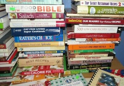 Great Lot of 160+ Cookbooks All Genres Free Shipping