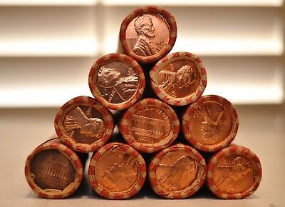 Ten Unsearched 1960 D Small Date BU Bank Wrapped Lincoln Cent Rolls Ships Free