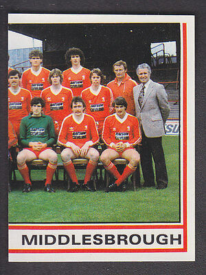Panini - Football 81 - # 213 Middlesbrough Team Group