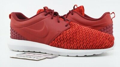 brand new a6e5c 790d8 Nike Roshe Nm Flyknit Prm Used Size 14 Gym Red Crimson White 3M 746825-600