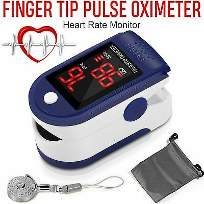 Finger Tip Pulse Oximeter Blood Oxygen Meter SpO2 Heart Rate Monitor FDA