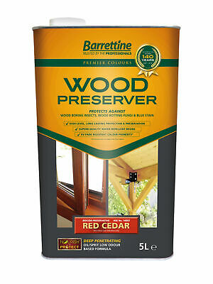 5L Wood Preserver Red Barrettine PREMIER stain treatment protection exterior