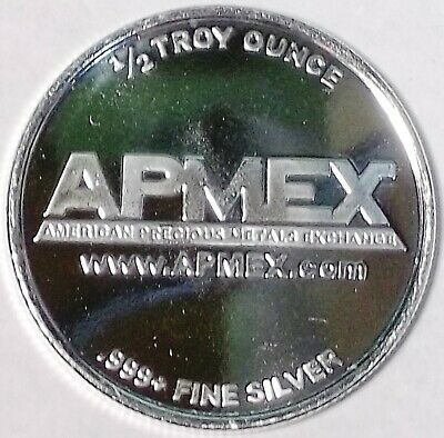 APMEX 1/2 oz .999 Fine Silver Round Deep-Mirror / Proof-Like Strike