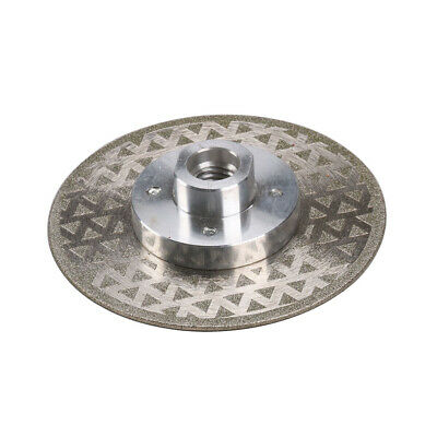"4"" 4.5"" Diamond Coated Cutting Disc Stone Grinding Wheel M12 Thread Flange 1Pc"