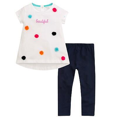 Girls Pom Pom Leggings and Top Set Infants Childrens Clothing Outfit