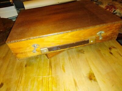 """Artists paint box-15.5"""" x11"""".Old/vintage(no name)"""