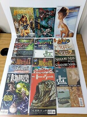 Comic Book Lot Spawn Witchblade Books of Magic Lady Justice + McFarlane Toy Cata