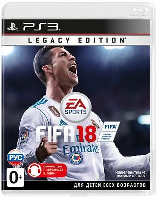 FIFA 18: Legacy Edition (Sony PlayStation 3, PS3) Brand New Factory Sealed