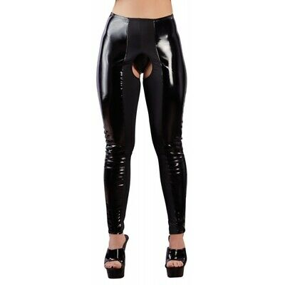 Black Level Leggings vinile nero aperto catsuit chemise badydoll miniabito sexys