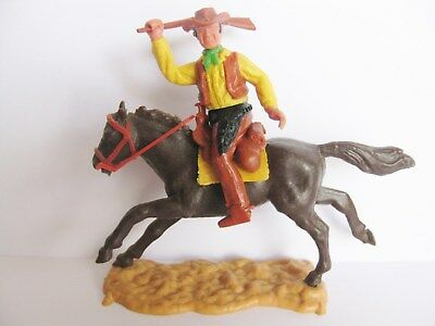 Timpo Toys Mounted Cowboy Horse Pferd B